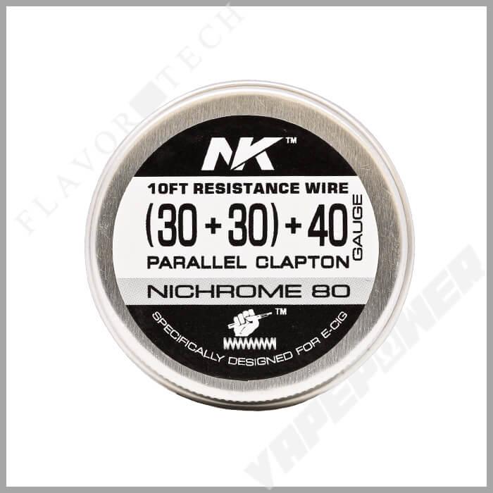 NICHROME PARALLEL CLAPTON WIRE 10FT【NK Wire】ニクロム パラレル クラプトン ワイヤー エヌケー ワイヤー