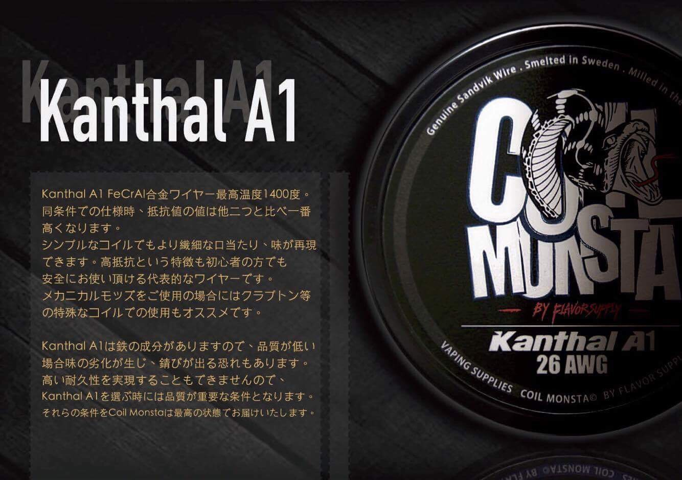 Kanthal A1 100ft【COIL MONSTA】カンタル コイルモンスター