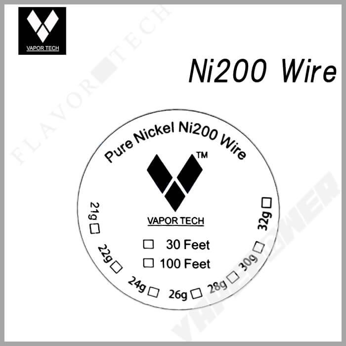 Pure Nickel Ni200 Wire 30 Feet【VAPOR TECH】ニッケル ベイパー テック