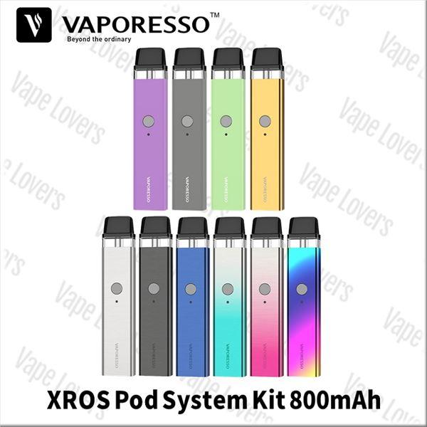 VAPE POD スターターキット 電子タバコ Vaporesso XROS Pod System Kit 800mAh 2ml ベポレッソ クロス
