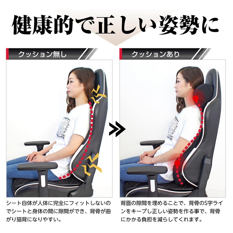 STRASSE ネック&ランバーサポートクッション 低反発で腰痛対策