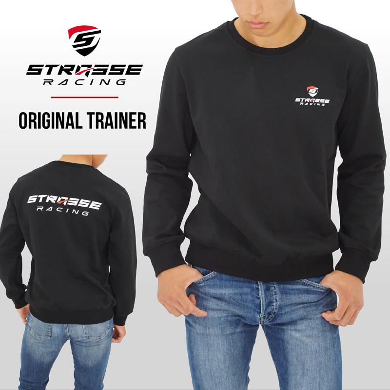 STRASSE クルーネックトレーナー 裏起毛ストレッチ