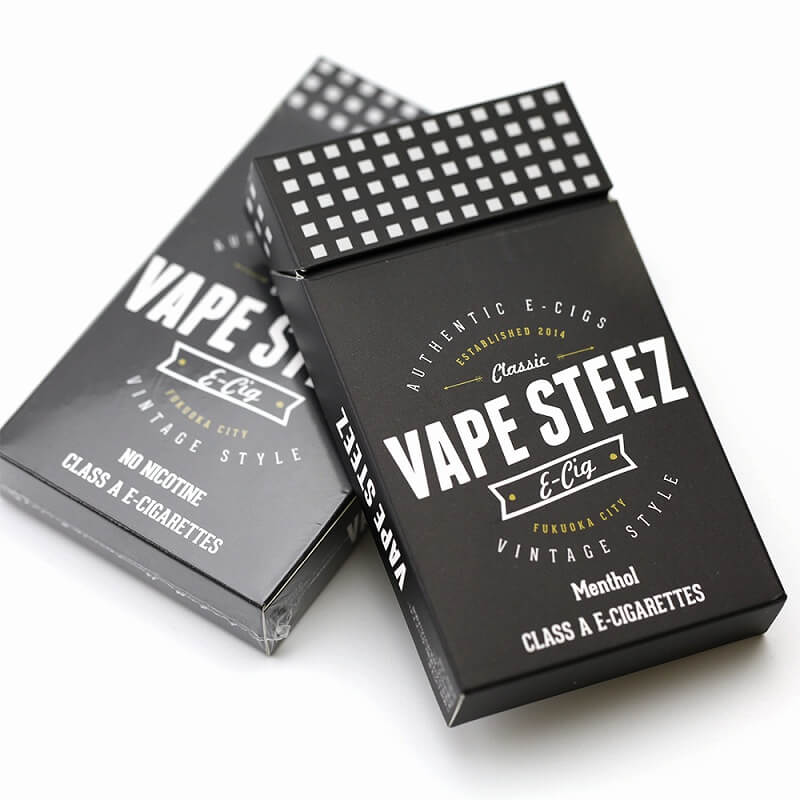 使い捨て電子タバコ 【 VAPE STEEZ オリジナル 】 BOXタバコ BOX (5本セット)