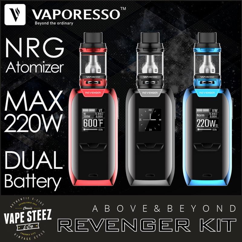 Vaporesso REVENGER 220W TC Starter Kit 急速充電対応
