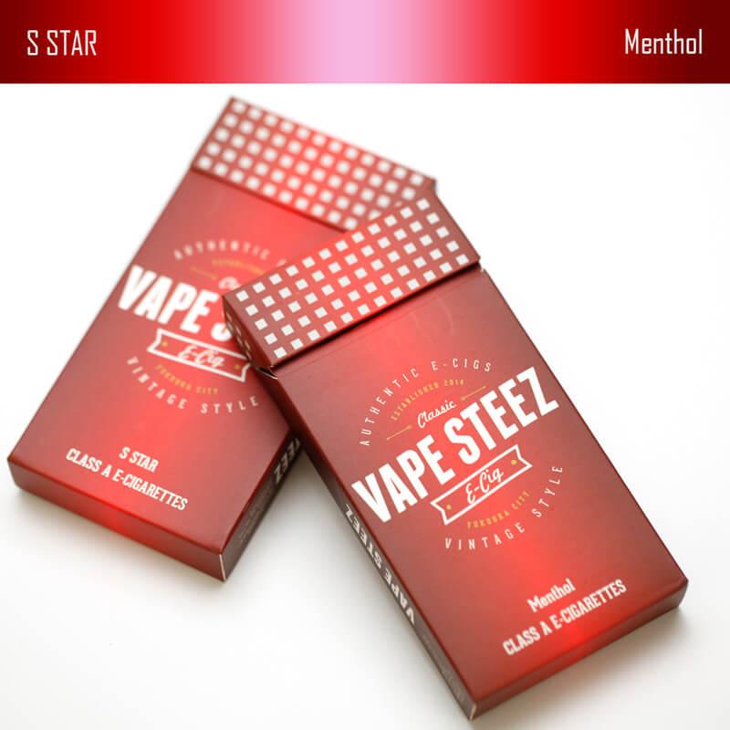 VAPE STEEZ オリジナル タバコ型 使い捨て電子タバコ ロングサイズ 500パフ  (5本セット)