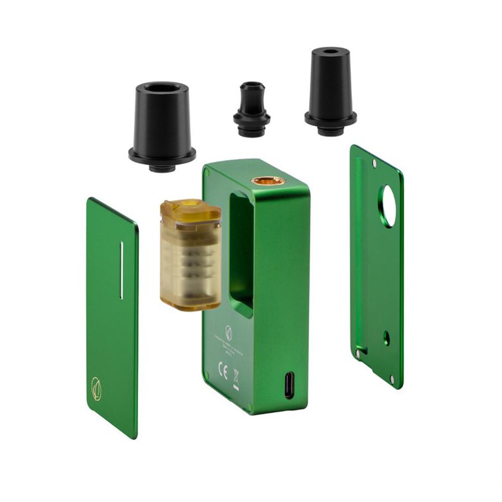 DOT LEAF  (ドットリーフ) 18650交換式 チャンバー交換可能 BOXMOD型 ヴェポライザー コンダクション 加熱式タバコ