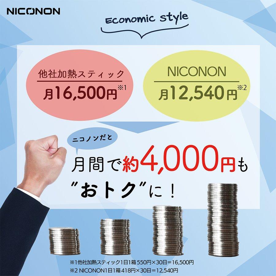 【NICONON】 ニコノン 3箱 (1箱20本入り) アイコス対応 次世代ニコチンゼロ 加熱式スティック 禁煙後の新しいカタチ。 (メンソール シトラス ブルーベリー)