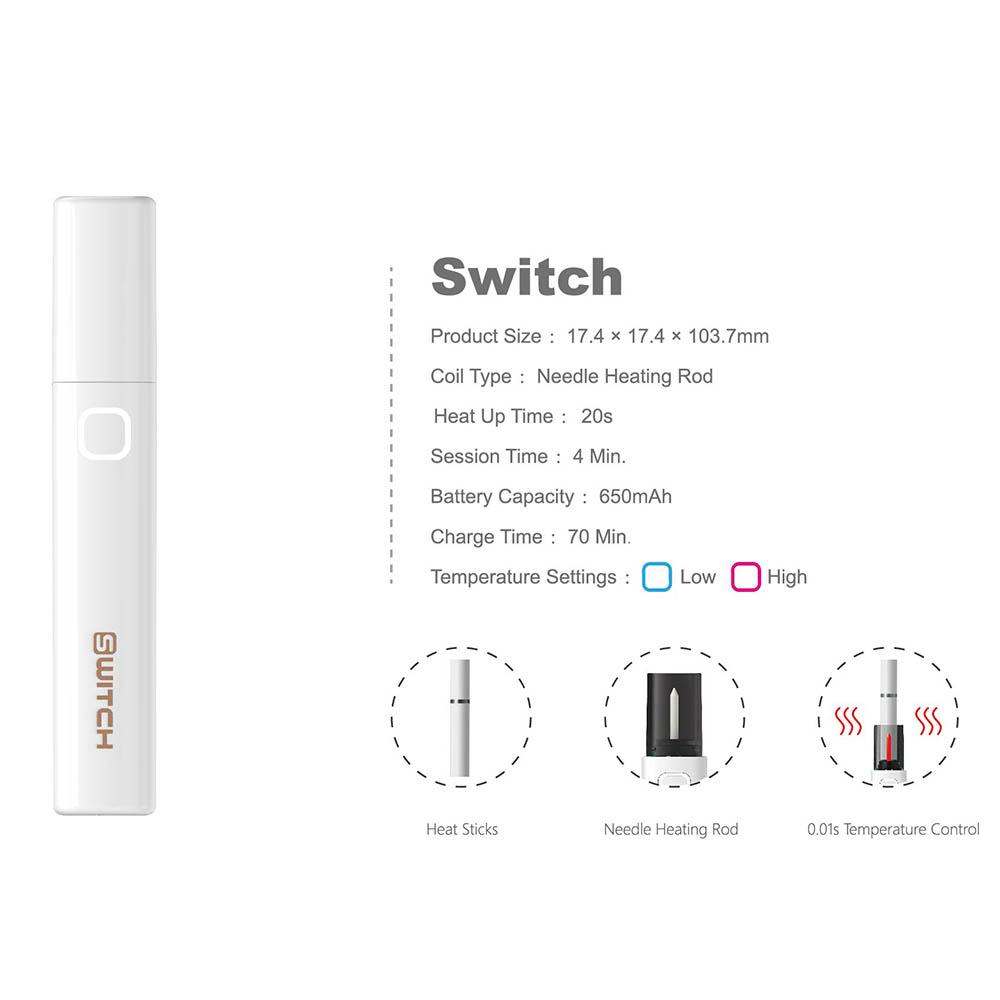 weecke Switch (スイッチ) アイコス互換機 white(ホワイト)IQOS 互換 本体 ホルダー 充電器 電子タバコ 電子たばこ スターターキット