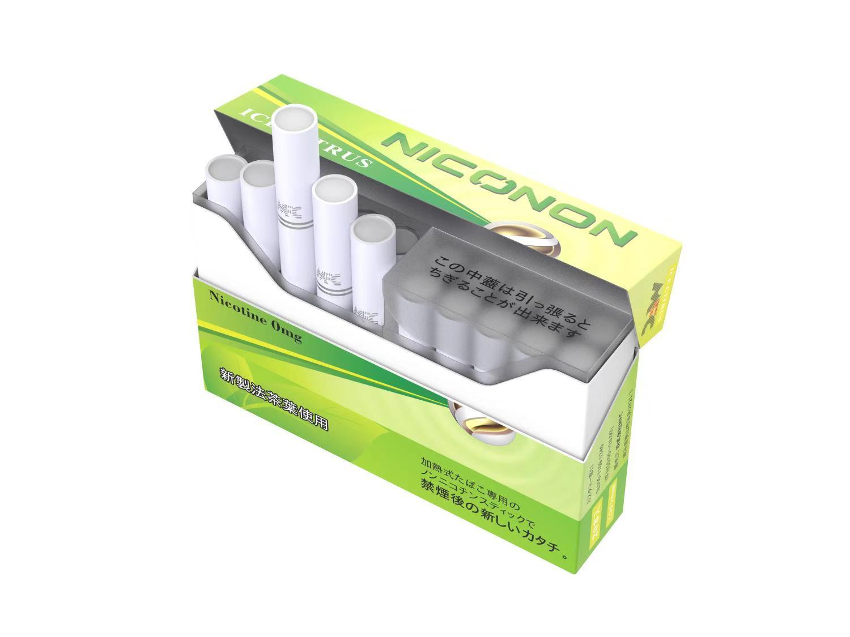 【アイスシトラス 1箱(20本入り)】 NICONON ニコノン  禁煙後の新しいカタチ。  アイコス互換機 次世代ニコチン0mg加熱式スティック
