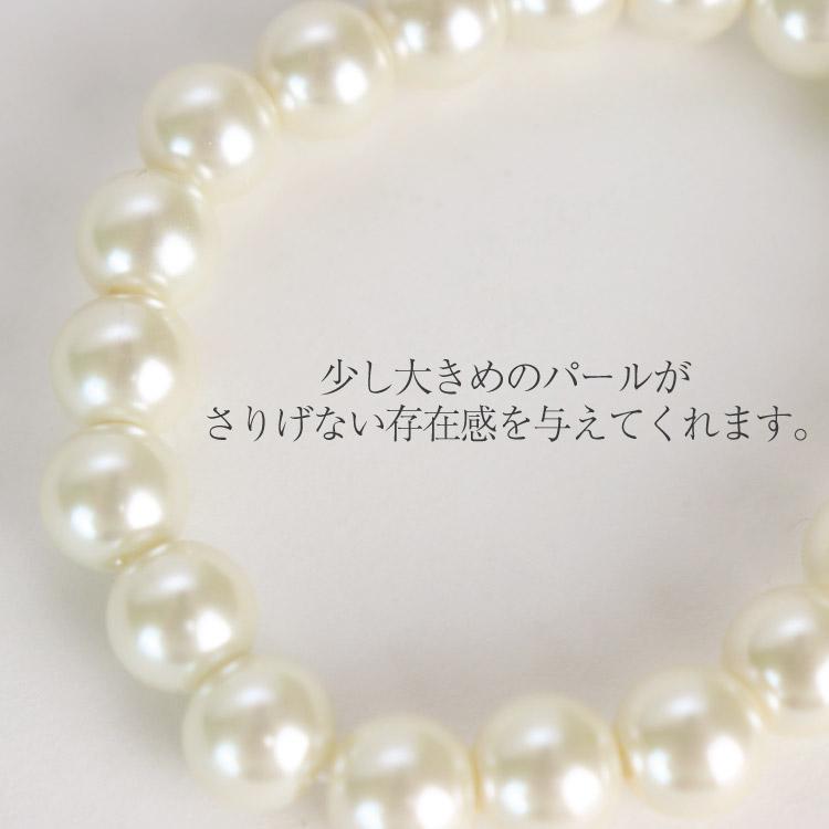 【2点セット】シンプル パールネックレス ブレスレット付き
