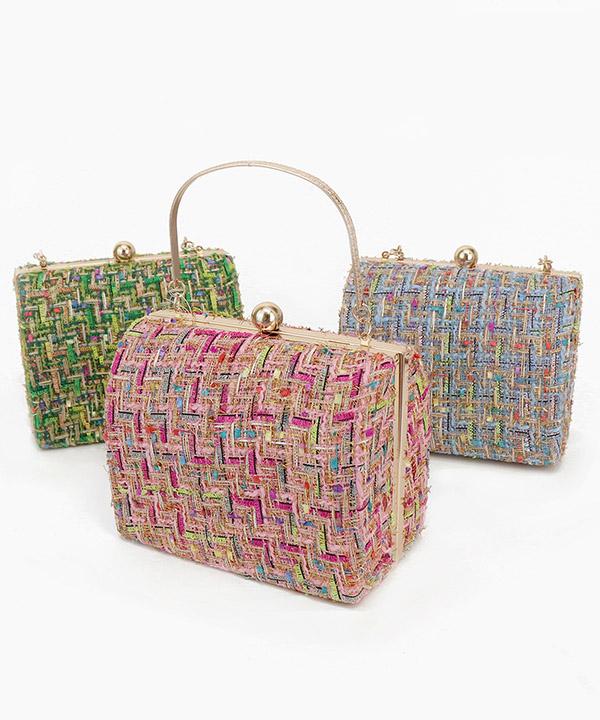 ツイード ボックス ハンドバッグ