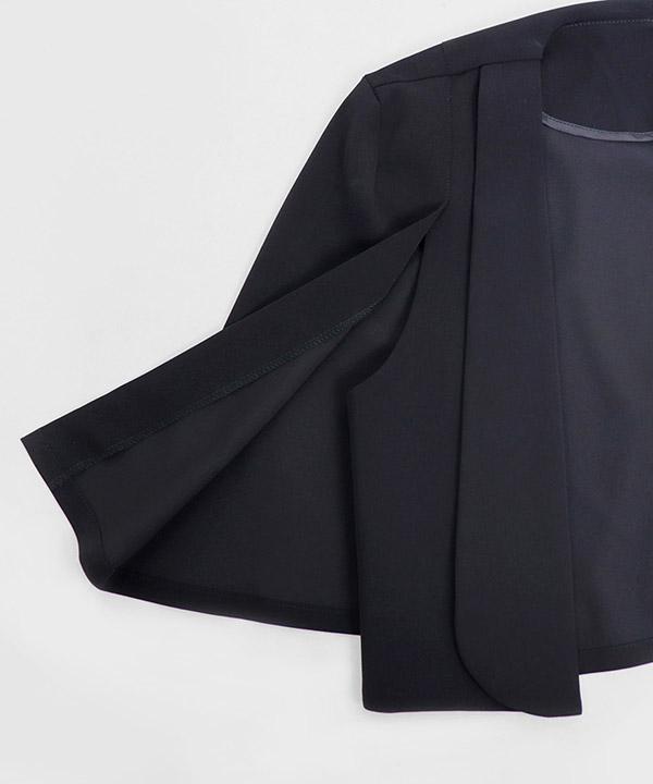 ケープ風ショールカラージャケット