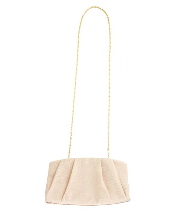 3WAY オーガンジー ラメ刺繍の クラシカル バッグ