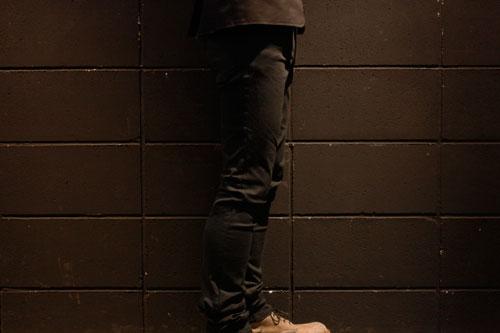 High power stretch garment die pants Black