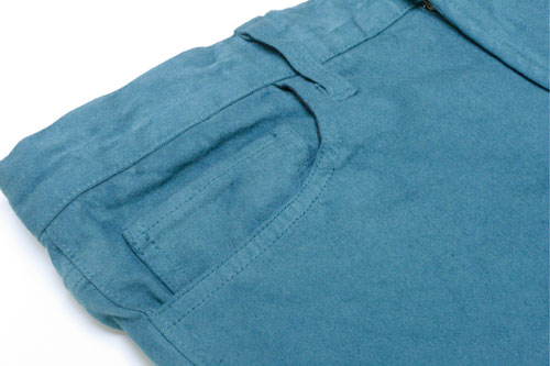 High power stretch garment die pants Mat green