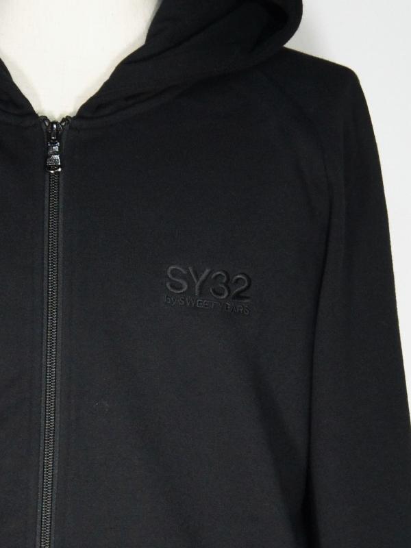 SY32 by SWEET YEARS「BASIC ZIP HOODIE」BLACK×BLACK