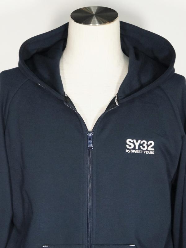 SY32 by SWEET YEARS「BASIC ZIP HOODIE」NAVY