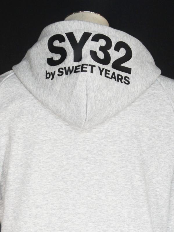 SY32 by SWEET YEARS「BASIC ZIP HOODIE」GRAY