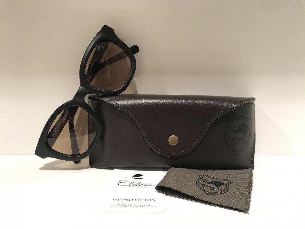 ELEBROU eyewear「【ケース付】No,323 Milolii Black Brown POLARIZED(偏光レンズ特別仕様)」 BLACK