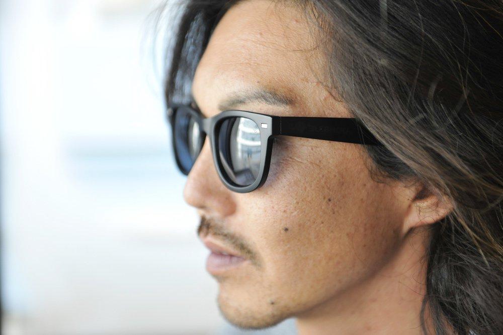 ELEBROU eyewear「【ケース付】No,235 WAIKIKI Seaview POLARIZED(偏光レンズ特別仕様)」 BLACK