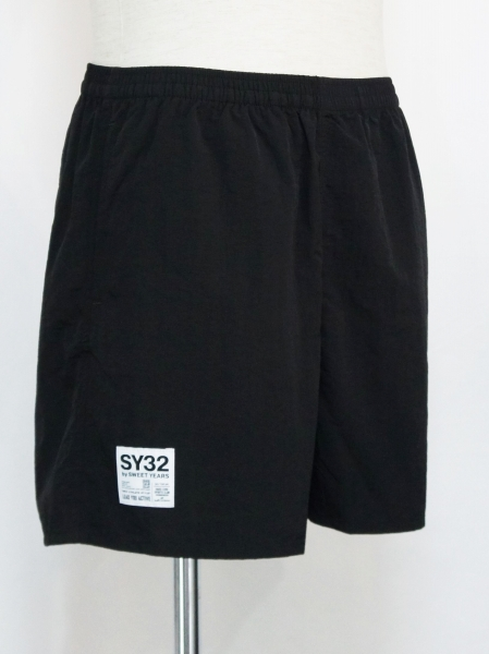 SY32 by SWEET YEARS「NYLON SHORT PANTS」BLACK