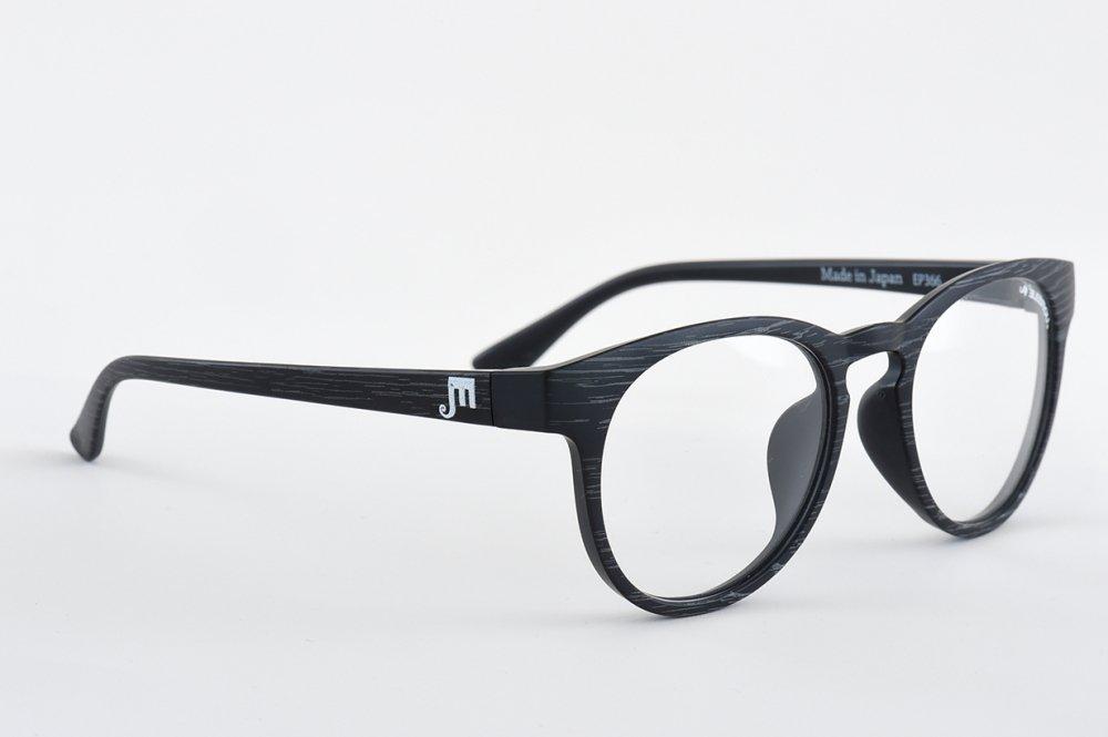 ELEBROU eyewear「【ケース付】No,P366-3 GLOBE Wood BIO Clear(バイオレンズ特別仕様)」 BLACK