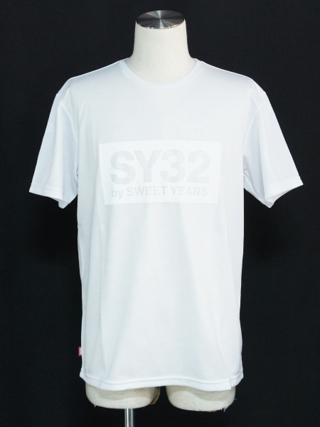 SY32 by SWEET YEARS「EMBOSS CAMO BOX LOGO TEE」WHITE×WHITE