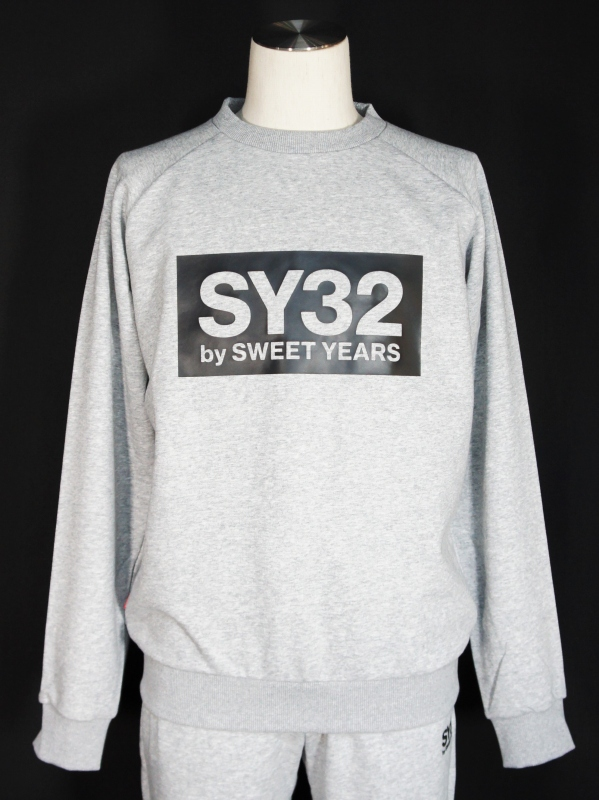 SY32 by SWEET YEARS「BOX LOGO P/O CREW」GRAY