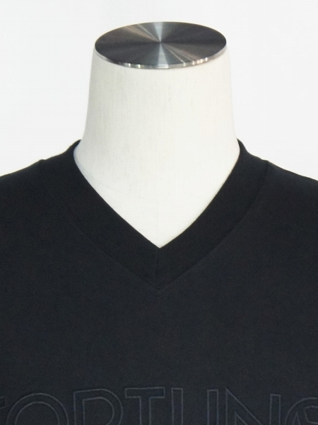 FORTUNA HOMME「Embroidery V-neckStand T FHCT-0004」BLACK