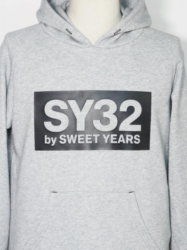 SY32 by SWEET YEARS「BOX LOGO P/O HOODIE」GRAY