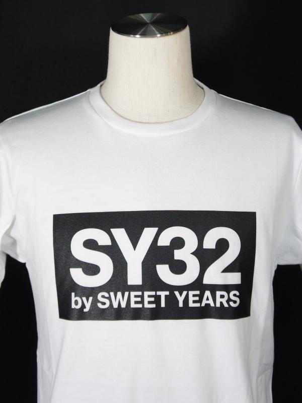 SY32 by SWEET YEARS「BOX LOGO TEE」WHITE×BLACK