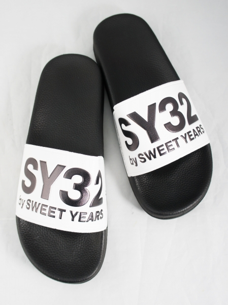 SY32 by SWEET YEARS「SHOWER SANDALS (LOGO)」BLACK