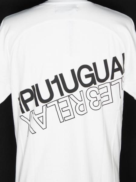 1PIU1UGUALE3 RELAX 「ハイデンシティダブルロゴ長袖Tシャツ」 WHITE