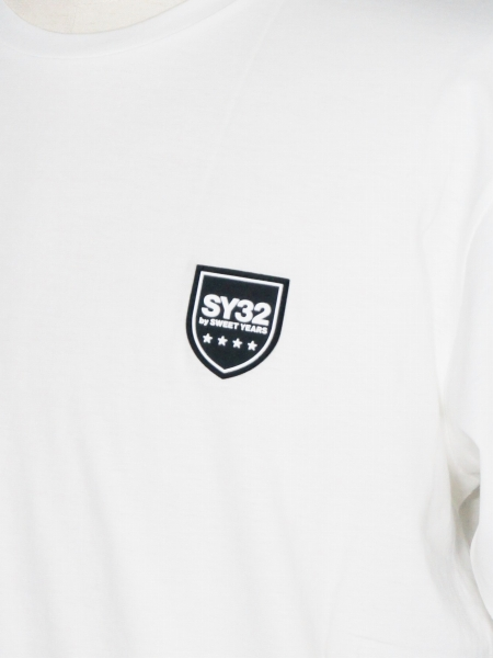 SY32 by SWEET YEARS「SILICON SHIELD LOGO TEE」WHITE