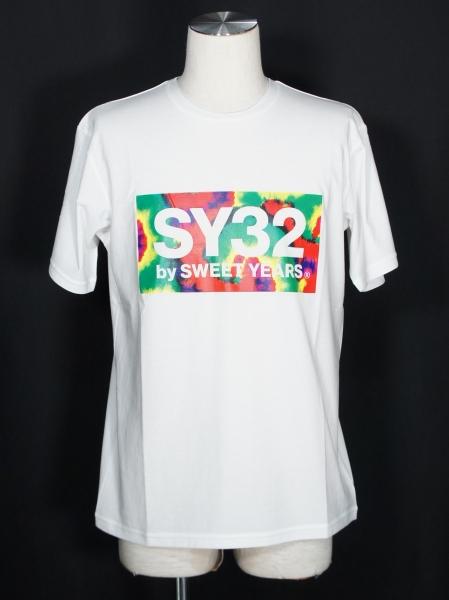 SY32 by SWEET YEARS「TIE DYE BOX LOGO TEE」WHITE