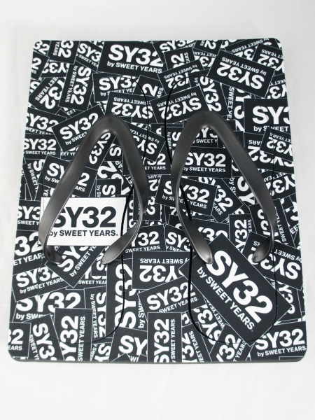 SY32 by SWEET YEARS「BEACH SANDALS(BOX LOGO)」BLACK