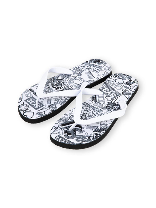 SY32 by SWEET YEARS「BEACH SANDALS(HEART MIX)」WHITE