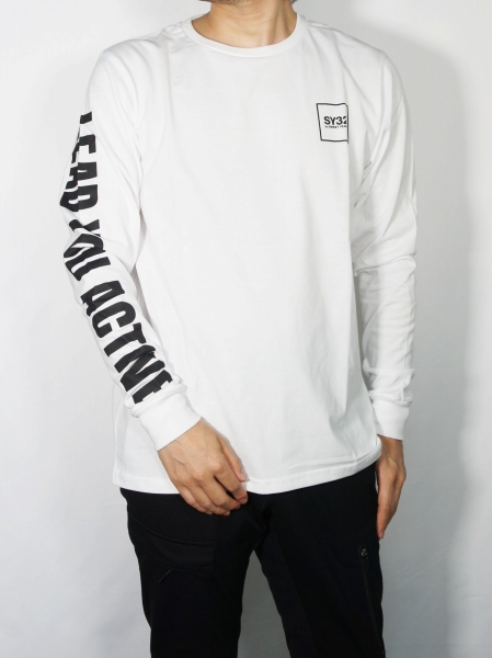 SY32 by SWEET YEARS「SQUARE MULTI LOGO L/S TEE」WHITE