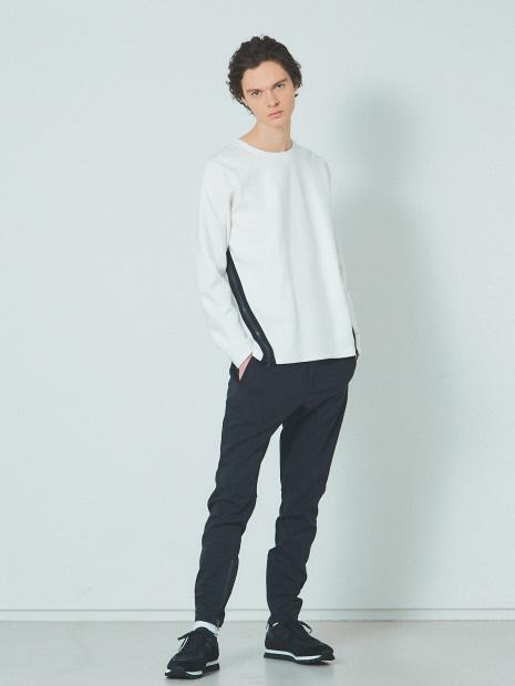 5351POUR LES HOMMES「裾ジップ プルオーバー ロングTシャツ」ホワイト