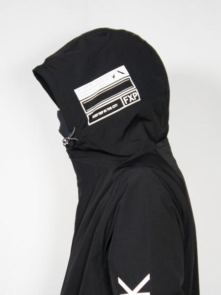 FLASH PACKER「ストレッチナイロン斜めジップ・ジャケット [SNP-SLASH] SS-06」ブラック