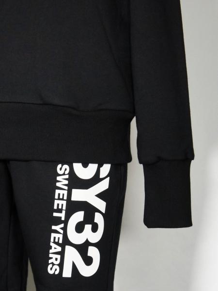 SY32 by SWEET YEARS「BIG LOGO HOODIE」BLACK×WHITE