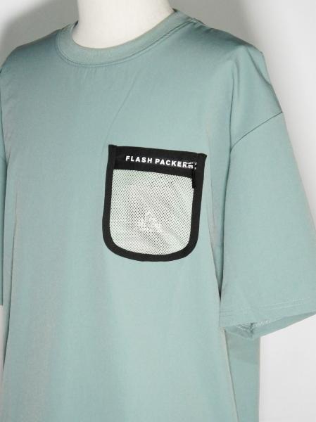 FLASH PACKER「ストレッチナイロン カットソー [XNT-PKT] 」BLUE