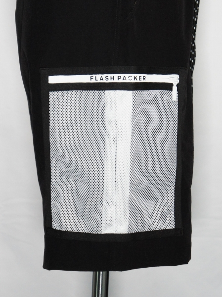 FLASH PACKER「ストレッチナイロンショーツ [XNHP-BP] 」BLACK
