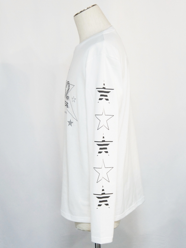 SY32 by SWEET YEARS「MULTI STAR L/S TEE」WHITE