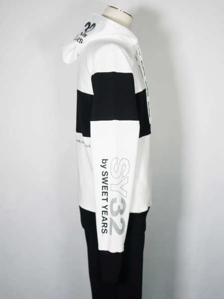 SY32 by SWEET YEARS「EXCHANGE P/O HOODIE」WHITE
