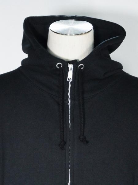 eofm「ZIP PARKA HOODED SWEAT SHIRT」BLACK