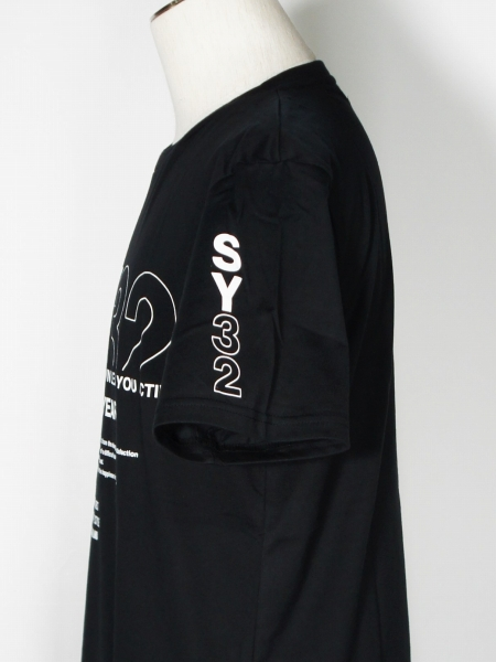 SY32 by SWEET YEARS「MIX LOGO TEE」BLACK