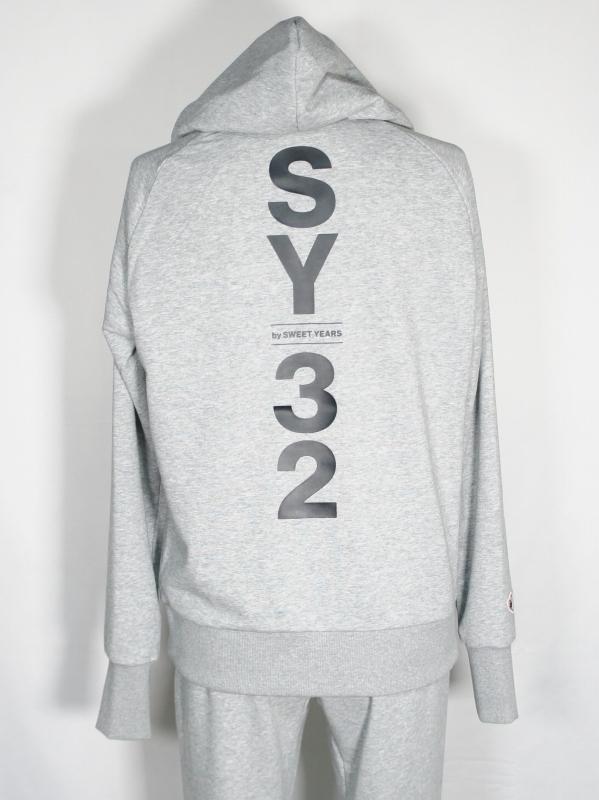 SY32 by SWEET YEARS「SHIELD LOGO P/O HOODIE」GRAY