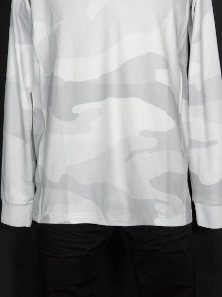 1PIU1UGUALE3 RELAX 「カモ柄長袖ポロシャツ」 ホワイト