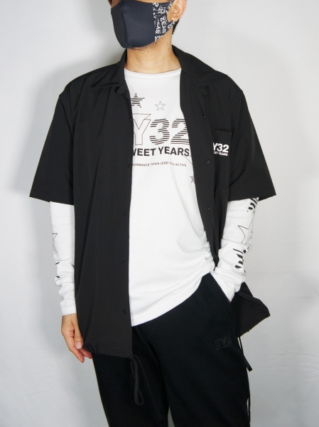 SY32 by SWEET YEARS「OPEN COLLAR SHIRTS」BLACK